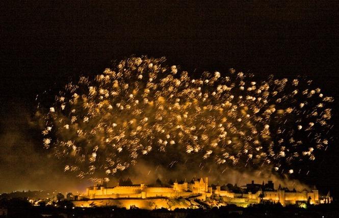 FEU D'ARTIFICE ET EMBRASEMENT DE LA CITE DU 14 JUILLET 6 - Carcassonne